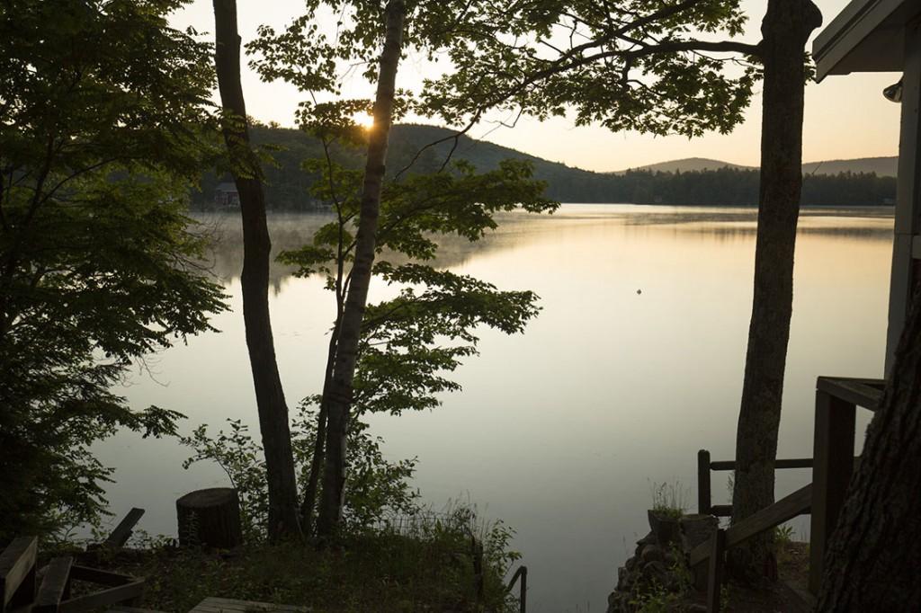 Sunrise On Mountain View Lake, Sunapee, New Hampshire.