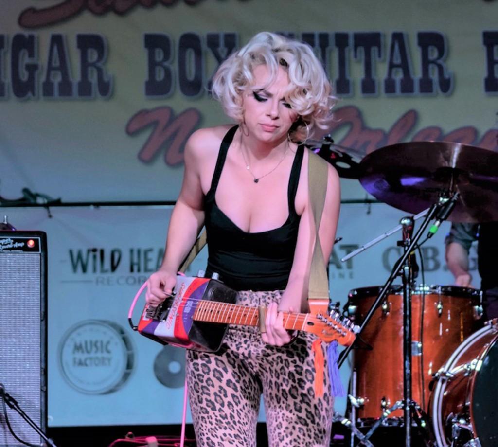 Crop News Samantha Fish Cigar Box Festival Guitar Pic By Jean Frank Copy 2