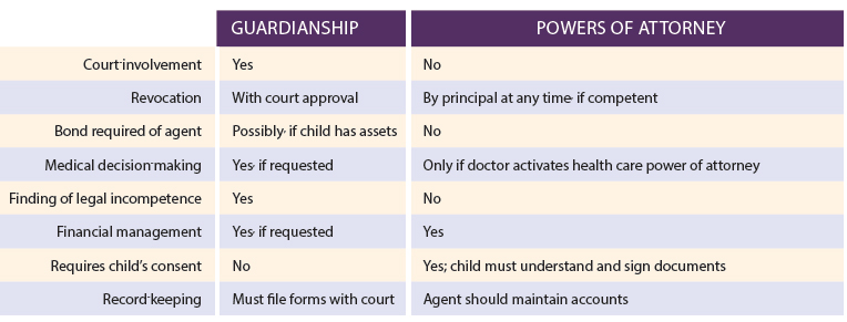 Guardianshipvspower