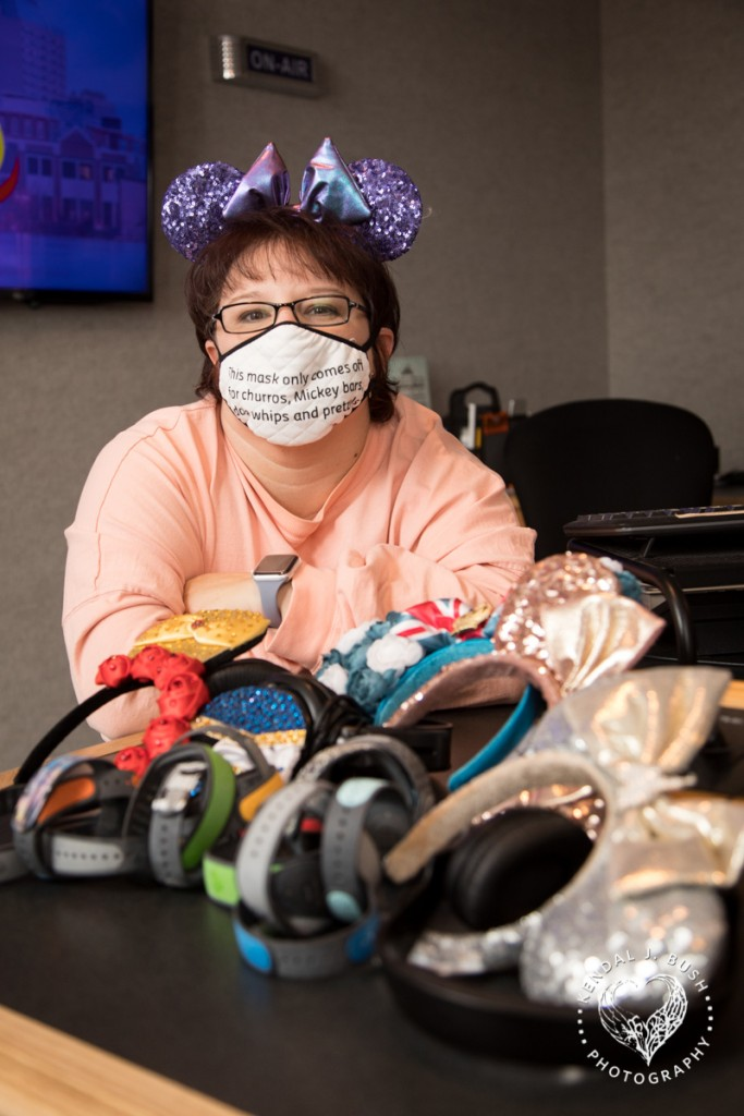 Heather Bishop Loves Her Disney Headbands And Bracelets 0194