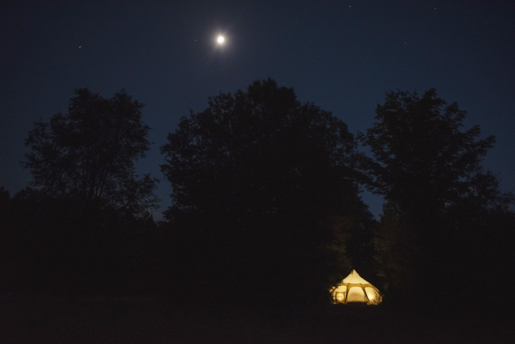 The Warm Glow Of One Of The Tents At Hubnorth