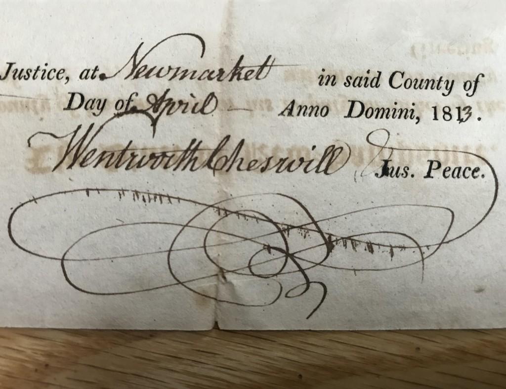 Wentworth Cheswill S Signature