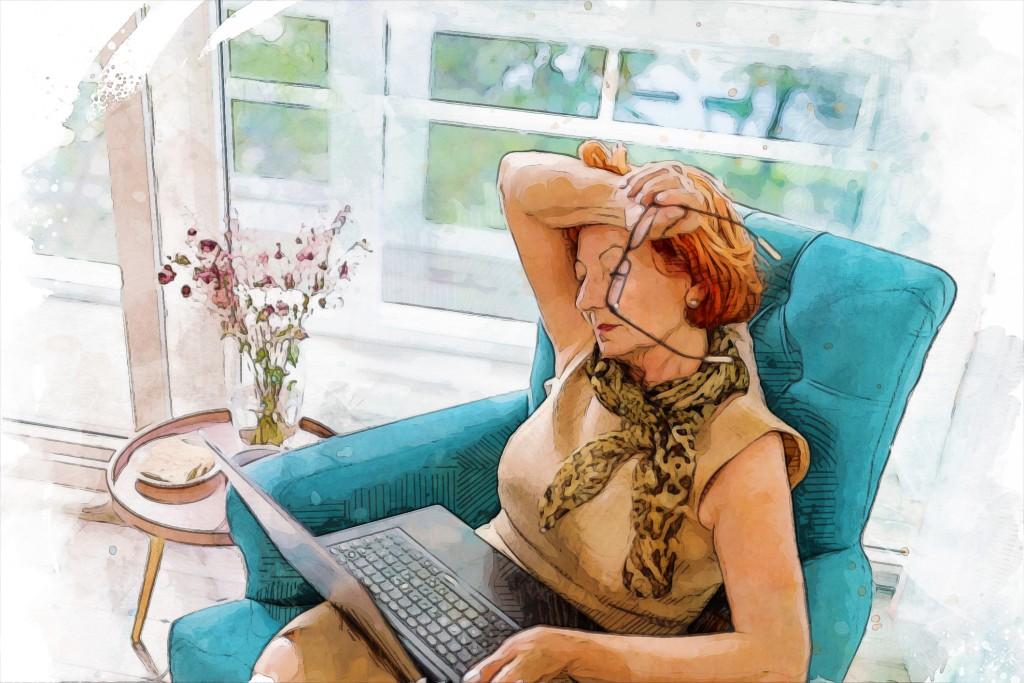 Elderly Woman Having Health Problems