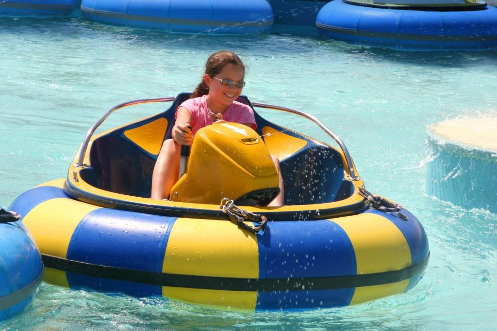 Bumper Boats Ride At Waterpark