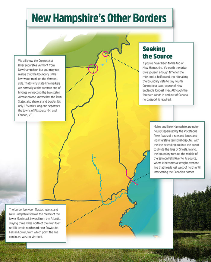 Map Of Boarder Between Canada And New Hampshier Walking New Hampshire's Northern Border   New Hampshire Magazine